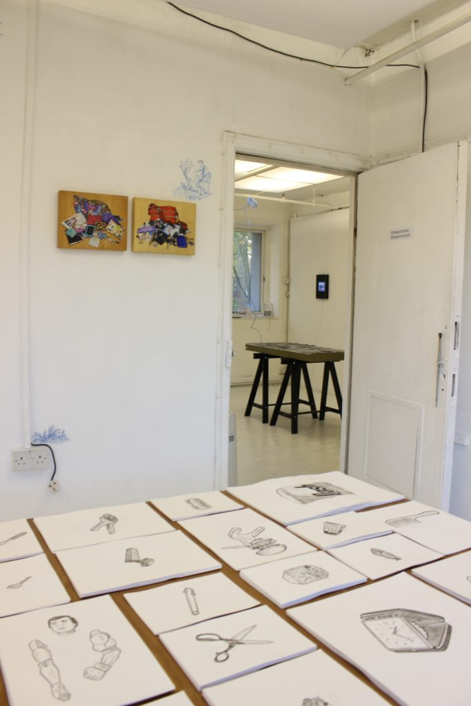 Artwork by Paolo Fiorentini and Teresa Witz displayed at The Apartment 9