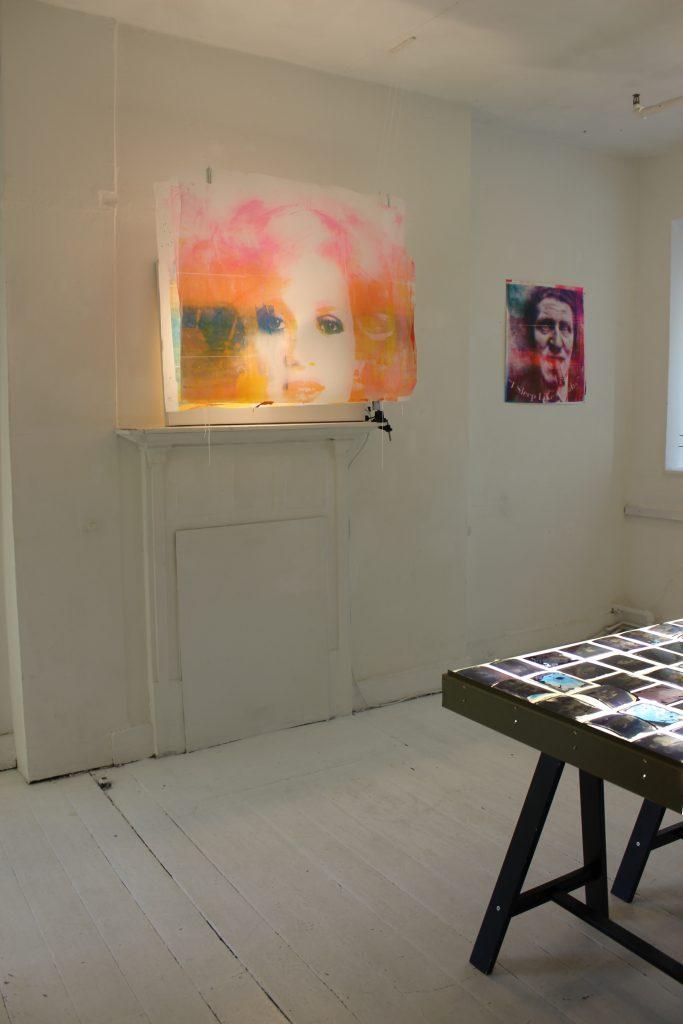 Artwork by Giovanna Del Sarto and L.A. MacDonald displayed at The Apartment 9